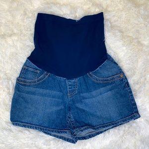Indigo Blue Maternity Blue Jean Shorts Size Small